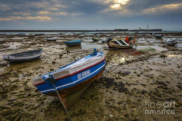 Photograph - Beached Boats On La Caleta Cadiz Spain by Pablo Avanzini