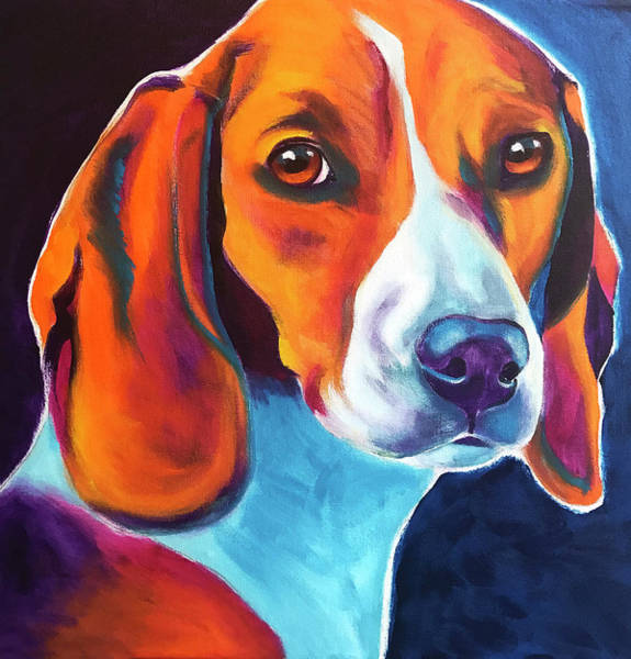 Wall Art - Painting - Beagle - Lucille by Alicia VanNoy Call