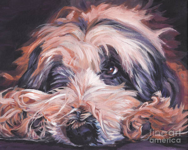 Collie Painting - Bearded Collie by Lee Ann Shepard