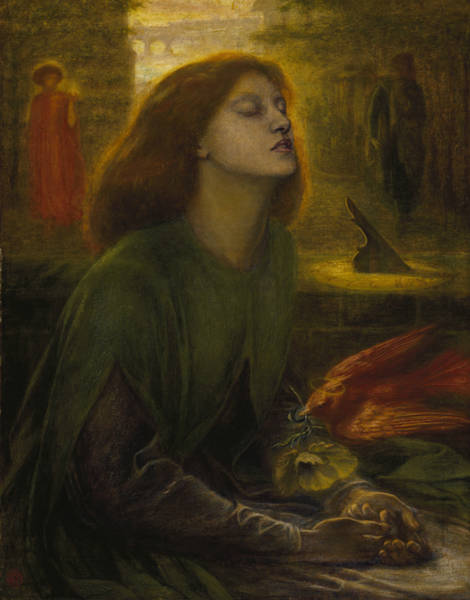 Pre-raphaelite Brotherhood Painting - Beata Beatrix by Dante Gabriel Rossetti