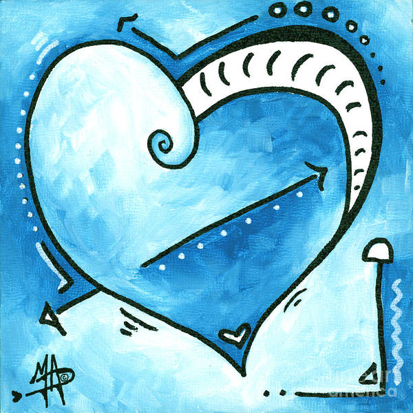 Wall Art - Painting - Beautiful Original Acrylic Heart Painting From The Pop Of Love Collection By Madart by Megan Duncanson