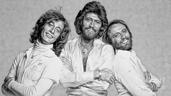 Wall Art - Mixed Media - Bee Gees Collection by Marvin Blaine