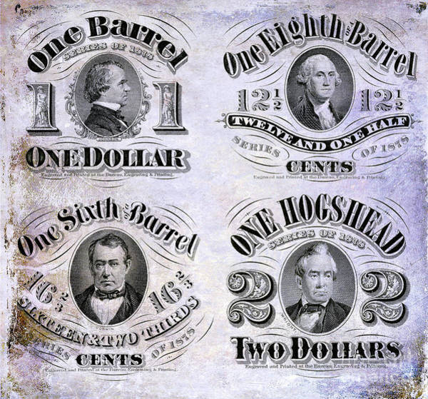 Wall Art - Photograph - Beer Tax Stamps Circa 1878 by Jon Neidert