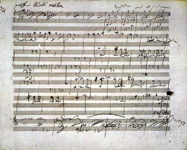 Wall Art - Photograph - Beethoven Manuscript by Granger