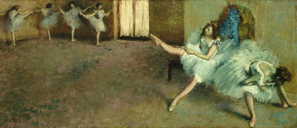 Wall Art - Painting - Before The Ballet by Edgar Degas