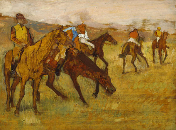 Painting - Before The Race by Edgar Degas
