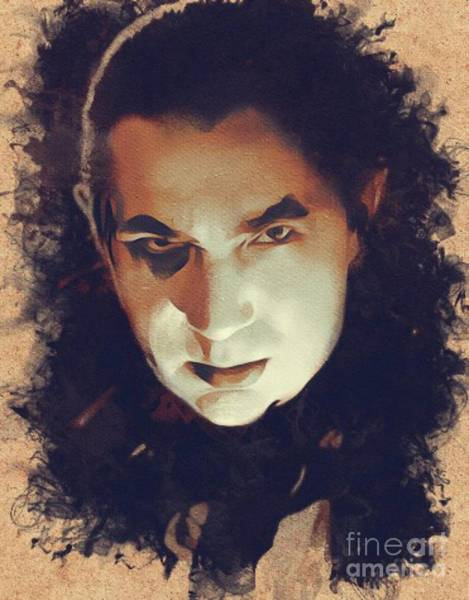 Dracula Painting - Bela Lugosi, Hollywood Legend by Mary Bassett