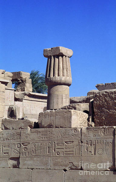 Photograph - Belief In The Hereafter - Luxor Karnak Temple by Urft Valley Art