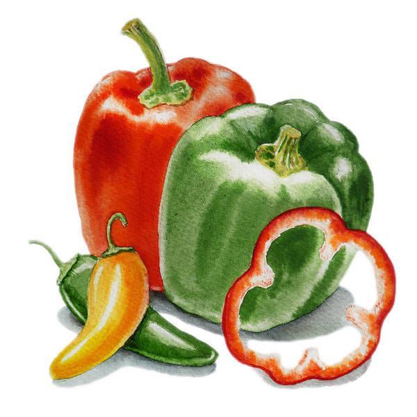 Yummy Painting - Bell Peppers Jalapeno by Irina Sztukowski