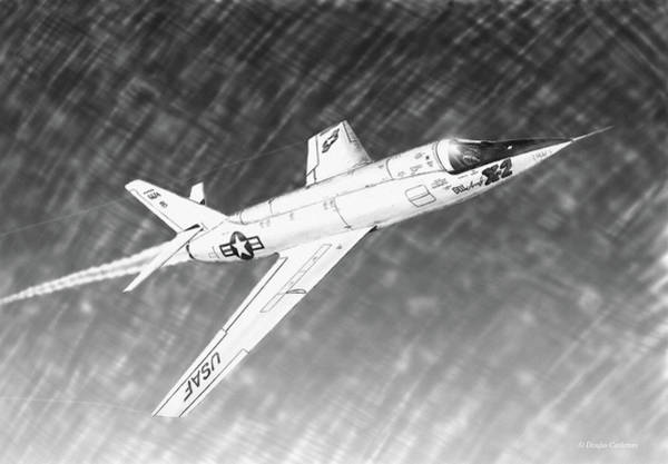 Drawing - Bell X-2 by Douglas Castleman