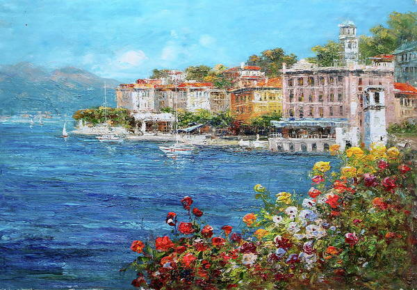 Lake Como Painting - Bellagio, Lake Como, Italy by Luigi Paulini