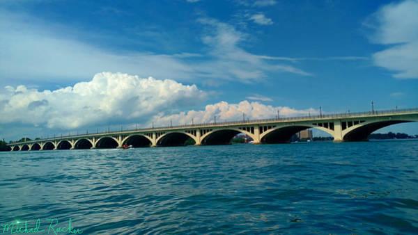 Michigan Wall Art - Photograph - Belle Isle Bridge by Michael Rucker