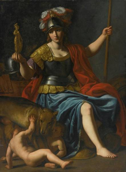 Romulus And Remus Painting - Bellona With Romulus And Remus by MotionAge Designs