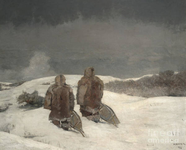 Wall Art - Painting - Below Zero, 1894 by Winslow Homer