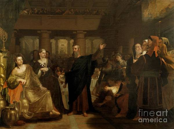 Feast Painting - Belshazzar's Feast by Washington Allston