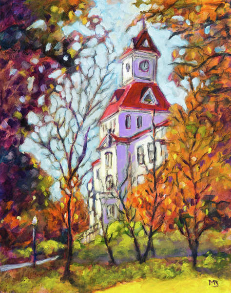 Courthouse Falls Painting - Benton County Courthouse by Mike Bergen
