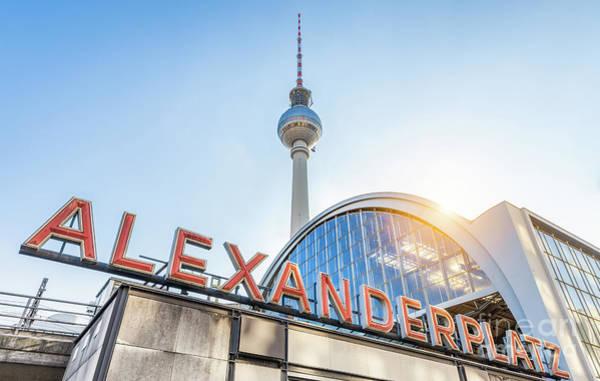 Fernsehturm Photograph - Berlin Alexanderplatz by JR Photography