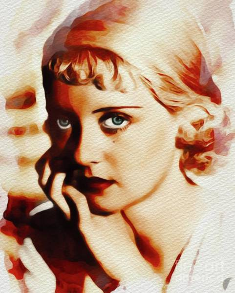Wall Art - Painting - Bette Davis, Vintage Movie Star by John Springfield