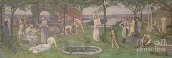Arte Painting - Between Art And Nature by Pierre Puvis de Chavannes