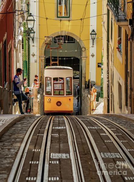 Carris Photograph - Bica Funicular, Lisbon, Portugal by Karol Kozlowski