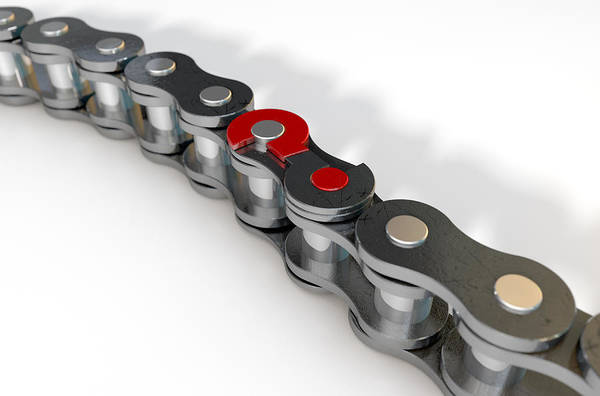 Conundrum Digital Art - Bicycle Chain Missing Link by Allan Swart