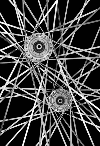 Spokes Photograph - Bicycle Hubs And Spokes by Jim Hughes