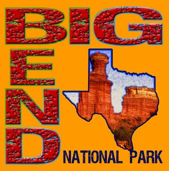 Wall Art - Digital Art - Big Bend National Park by David G Paul