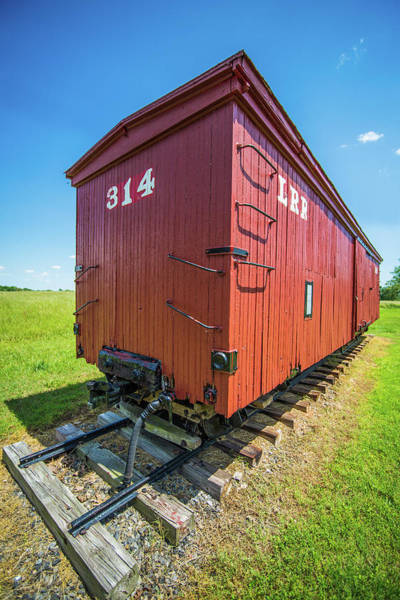 Photograph - Big Red Caboose Wagon by Alex Grichenko