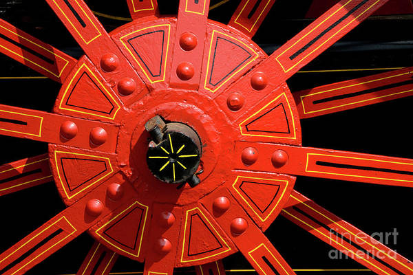 Wall Art - Photograph - Big Red Wheel - 138 by Paul W Faust - Impressions of Light