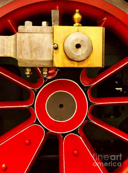 Wall Art - Photograph - Big Red Wheel by Paul W Faust -  Impressions of Light