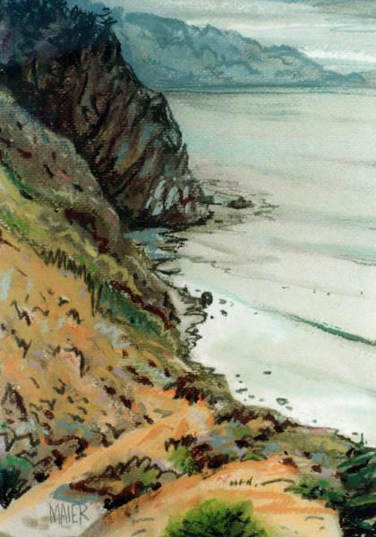 Big Sur Wall Art - Drawing - Big Sur California by Donald Maier