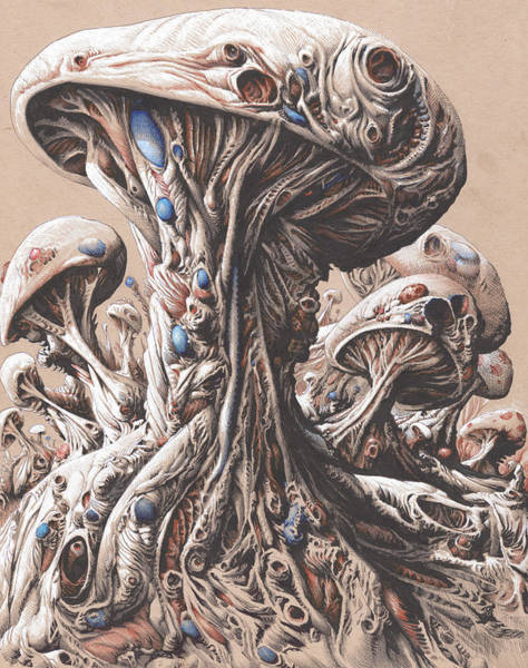 Organic Drawing - Biofeedback by Will Shanklin