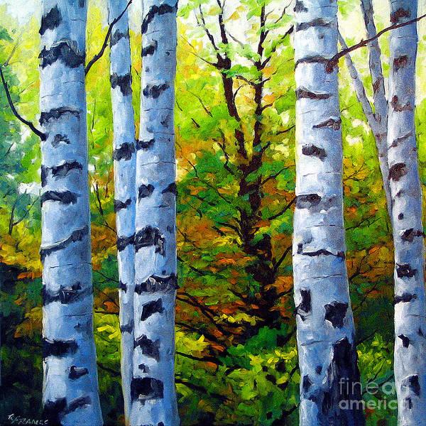 Wall Art - Painting - Birch Buddies by Richard T Pranke