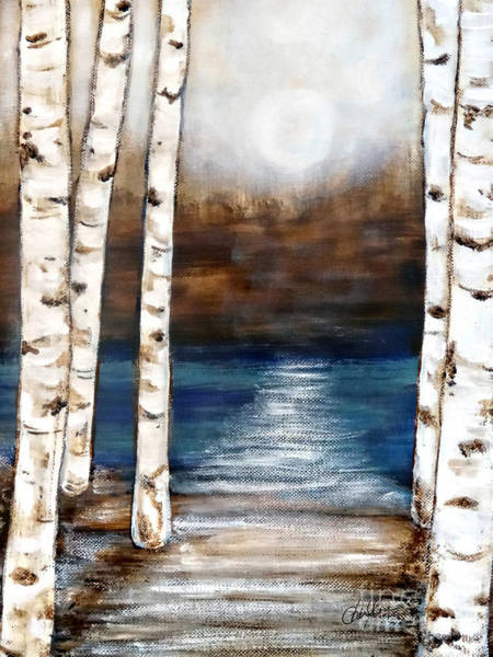 Framing Painting - Birch Lake by Cheryl Rose