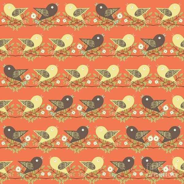 Wall Art - Digital Art - Birds Pattern by Gaspar Avila