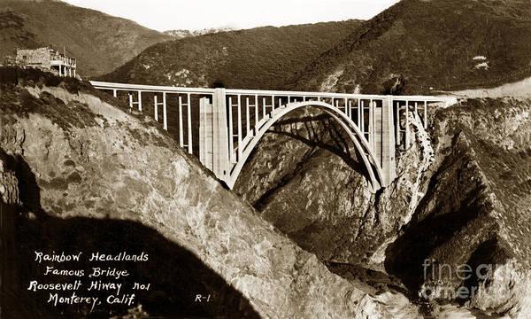 Photograph - Bixby Creek Aka Rainbow Bridge Bridge Big Sur Photo  by California Views Archives Mr Pat Hathaway Archives