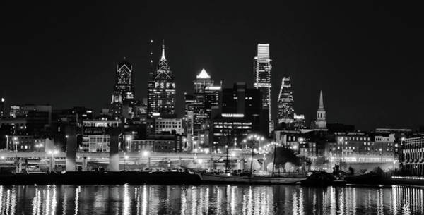 Photograph - Black And White Cityscape - Philadelphia by Bill Cannon