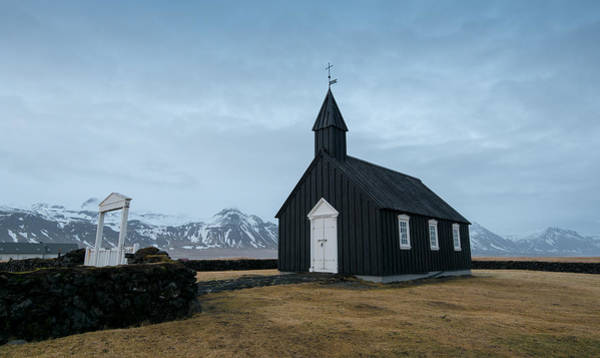 Icelandic Landscapes Wall Art - Photograph - Black Church Of Budir, Iceland by Michalakis Ppalis