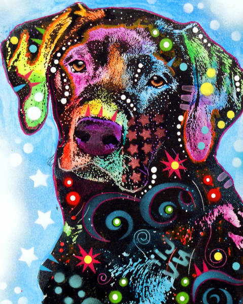 Wall Art - Painting - Black Lab by Dean Russo Art