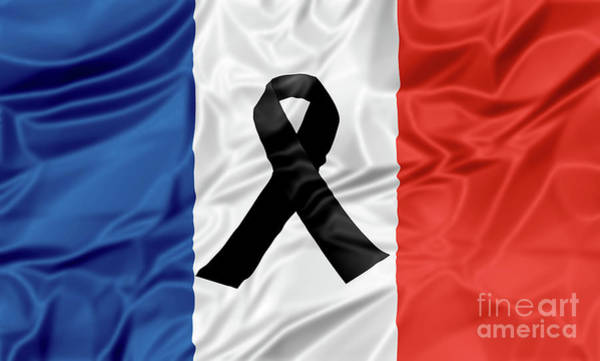 Digital Art - Black Ribbon France by Benny Marty