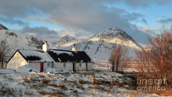 Photograph - Blackrock Cottage In Winter by Maria Gaellman