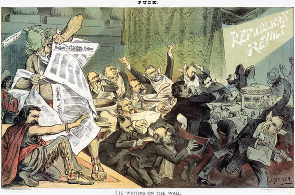 Photograph - Blaine Cartoon, 1884 by Granger