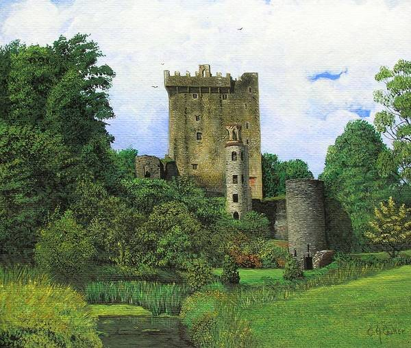 County Cork Wall Art - Painting - Blarney Castle  by Charolette A Coulter