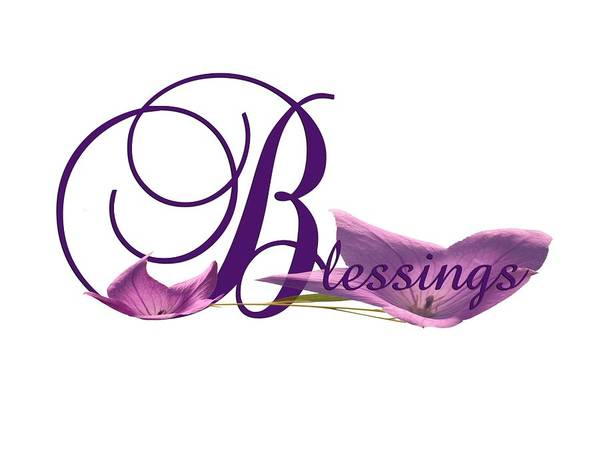 Digital Art - Blessings by Ann Lauwers