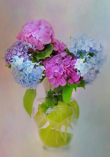 Flowers In A Vase Photograph - Blessings by Diana Angstadt