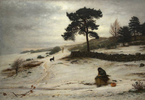 Pre-raphaelite Brotherhood Painting - Blow Blow Thou Winter Wind by John Everett Millais