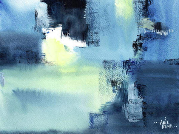 Painting - Blue Abstract by Anil Nene