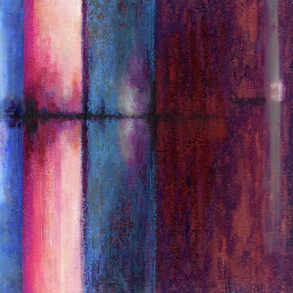 Blue Barrels II Art Print