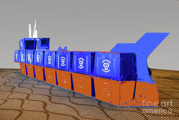 Photograph - Blue Box Oil Tanker by Bill Thomson