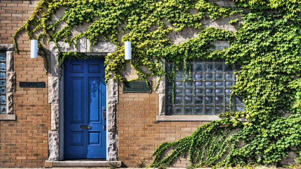 Royal Oak Photograph - Blue Door And Ivy by Chris Fleming